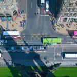 Aerial view of Princes Street